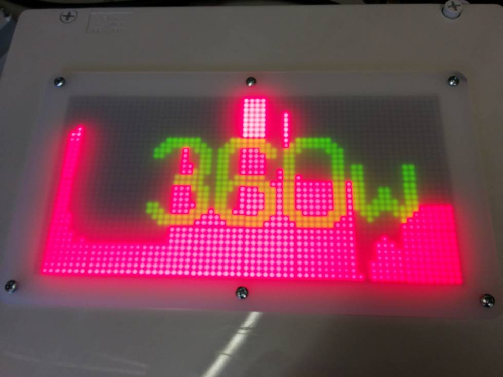 Arduino and led matrix display