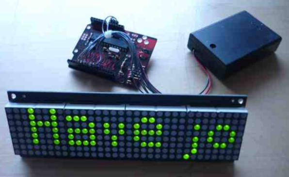 Sure 8x32 LED display test