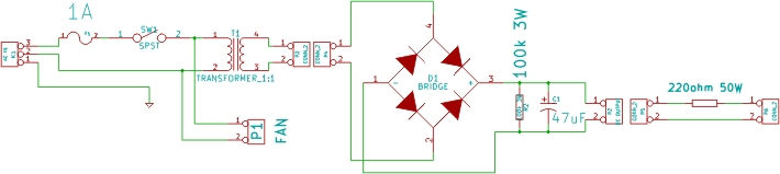 Inverter test unit circuit diagram