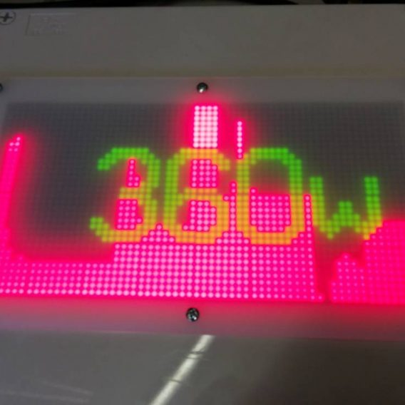 LED matrix for power display