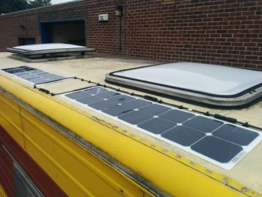 Solar PV panel for van