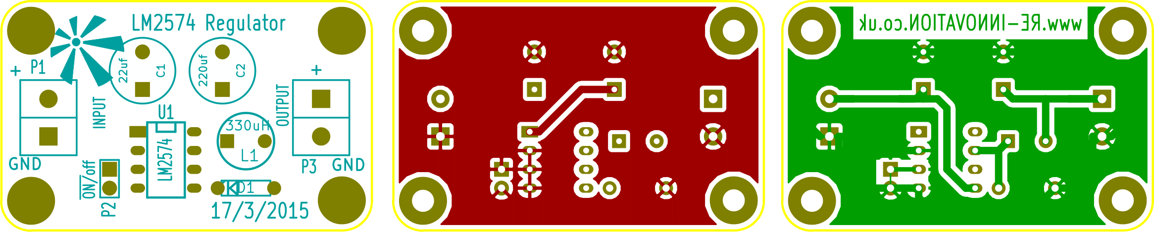 Lm2574 Voltage Regulator Kit Renewable Energy Innovation Our Schematic Kicad Pcb Files