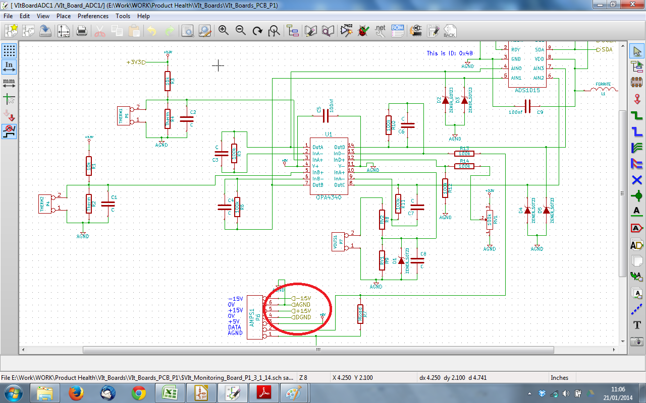 Multiple Sheet Schematics In Kicad Renewable Energy Innovation Design This Shows The Schematic Within Hierarchical Box Red Circle Four Of Labels Which Connect Through To