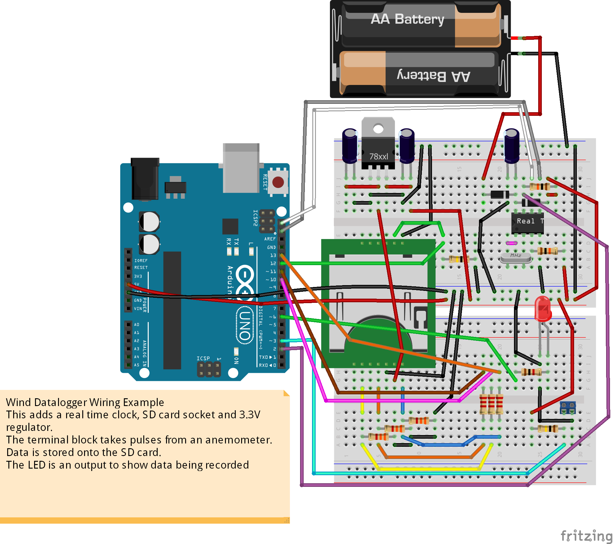 Low Cost Wind Datalogger Renewable Energy Innovation Amp Solar Wiring Diagrams Circuit Design